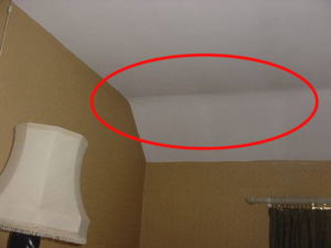 A sloped ceiling can suffer from heat loss