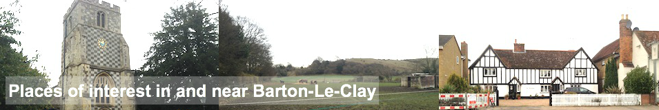 places of interest in and near barton le clay""