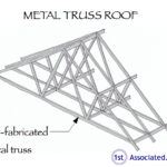 Metal truss roof